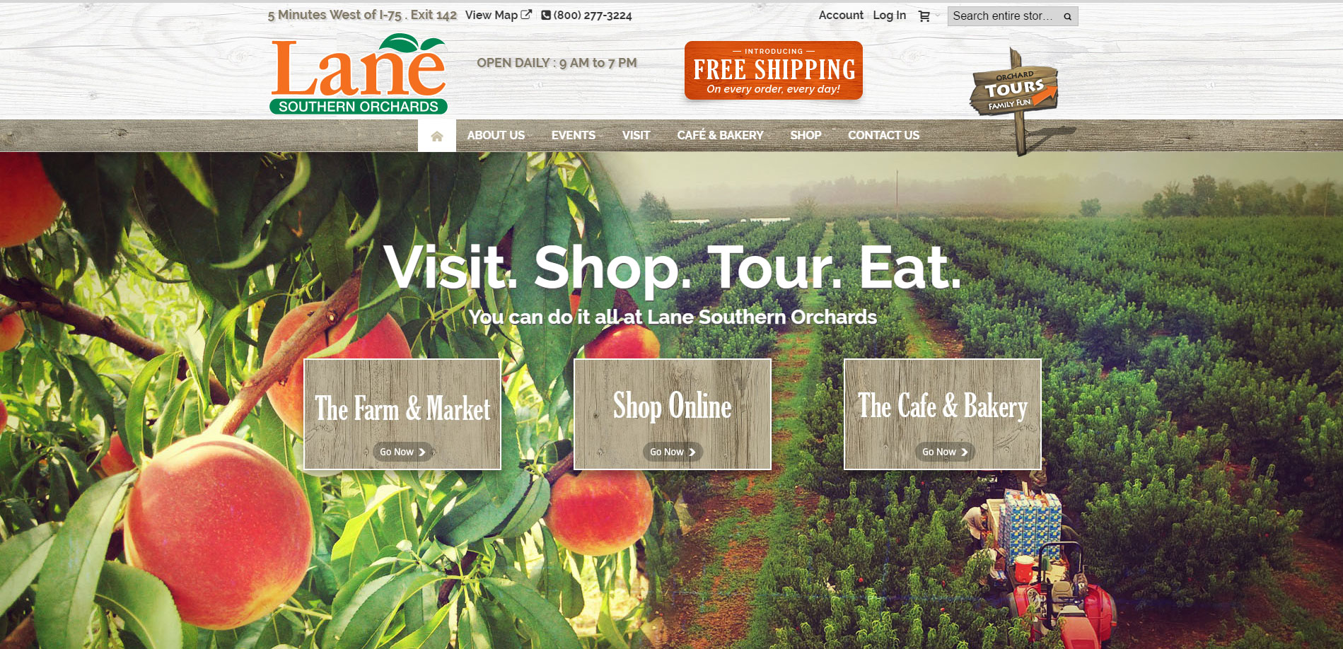 Lane Southern Orchards Website Goes Live